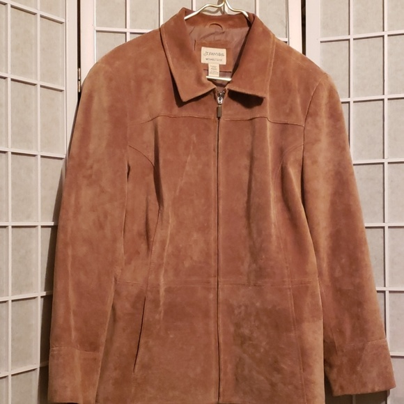 St. John's Bay Other - ST. JOHN'S BAY RUST WASHABLE SUEDE JKT XL